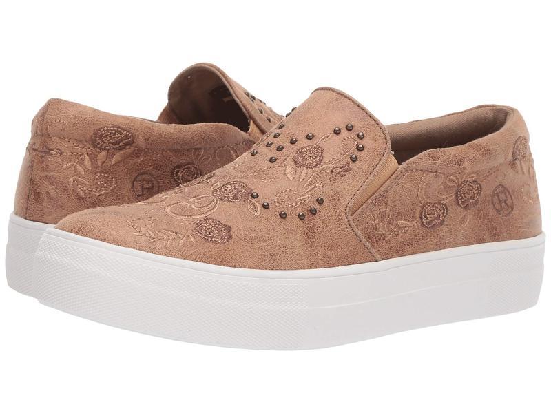 ローパー レディース スニーカー シューズ Darcy Tan Faux Leather/Tonal Embroidery