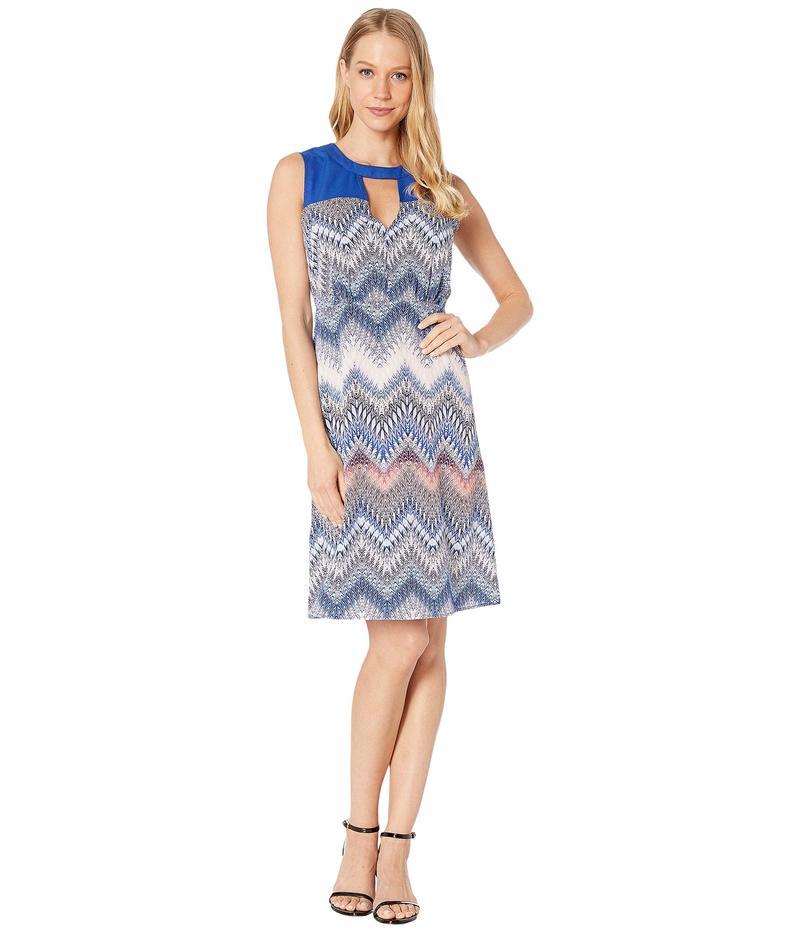 ビーシービージーマックスアズリア レディース ワンピース トップス Woven Print Block Dress Multi/Zigzag Ombre