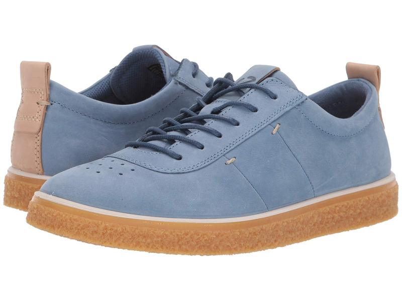 エコー レディース スニーカー シューズ Crepetray Lace-Up Retro Blue Nubuck Leather
