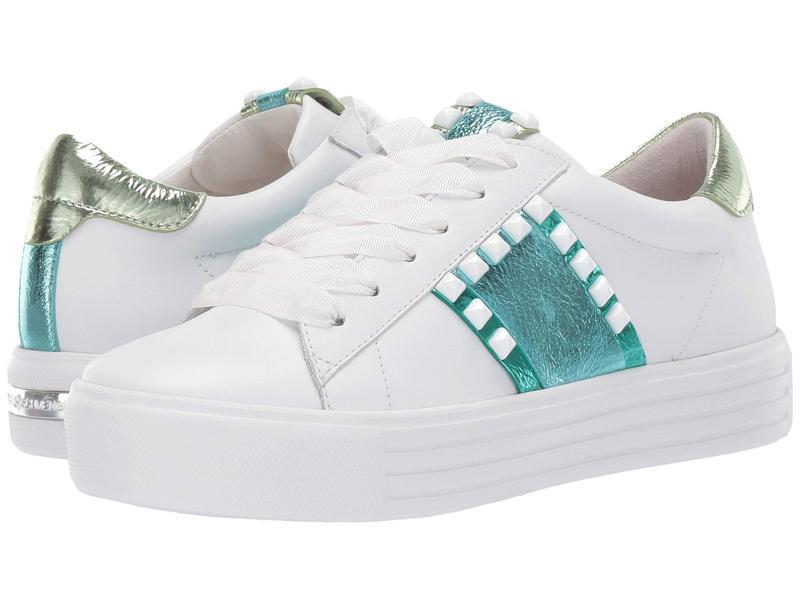 ケネルアンドシュメンガー レディース スニーカー シューズ Up Two-Tone Sneaker Bianco Combo Calf