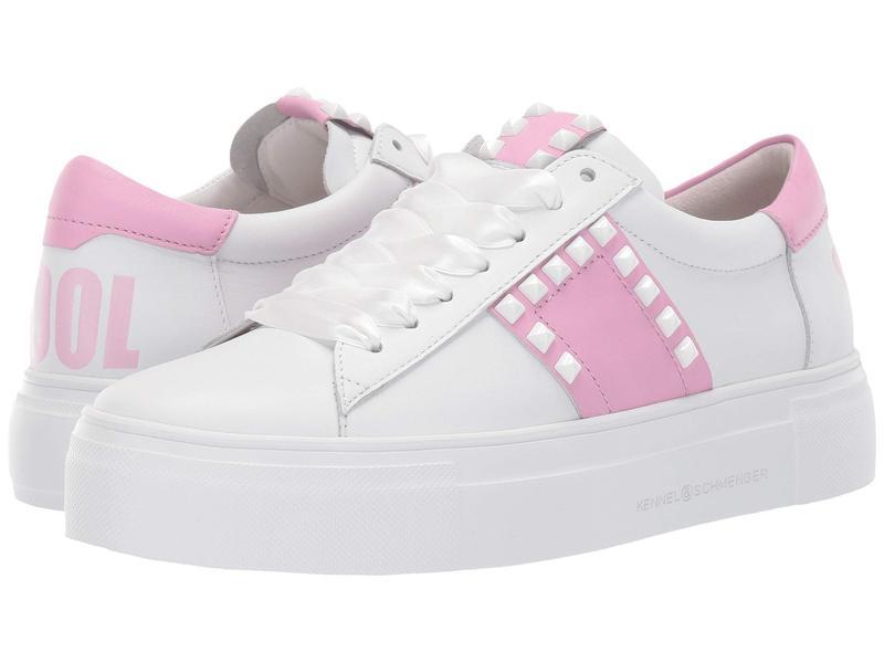 ケネルアンドシュメンガー レディース スニーカー シューズ Big Stay Cool Sneaker Bianco Calf/Pastel Pink Nappa