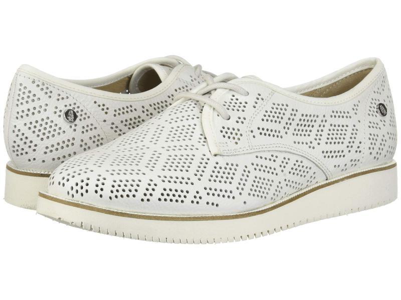 ハッシュパピー レディース オックスフォード シューズ Chowchow Perf Lace White Leather