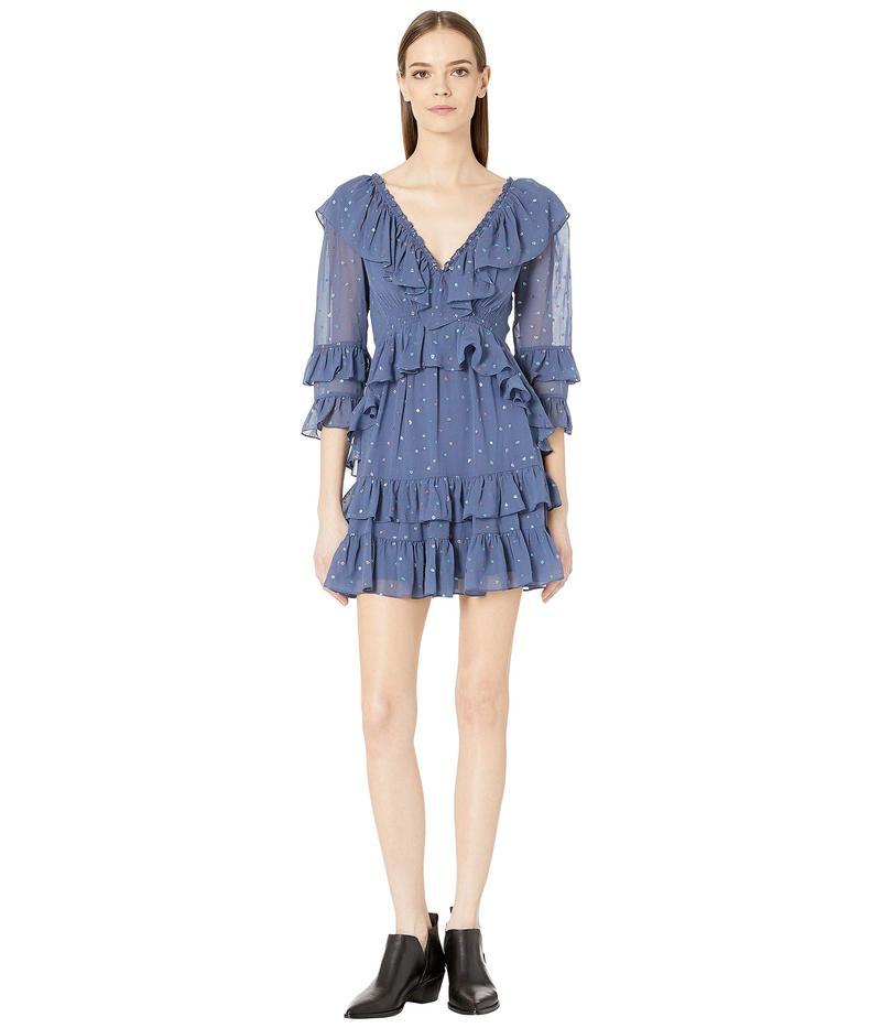 レベッカテイラー レディース ワンピース トップス Long Sleeve Glitter Gem Dress Ink Combo