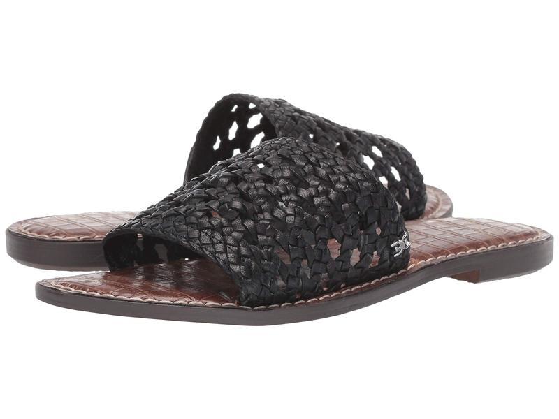 サムエデルマン レディース サンダル シューズ Genovia Black Woven Leather