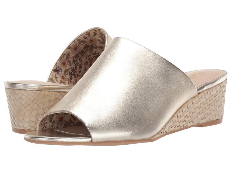 セイシェルズ レディース ヒール シューズ Vendor Gold Leather/Basketweave