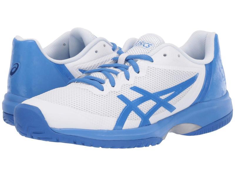 アシックス レディース スニーカー シューズ Gel-Court Speed White/Costal Blue