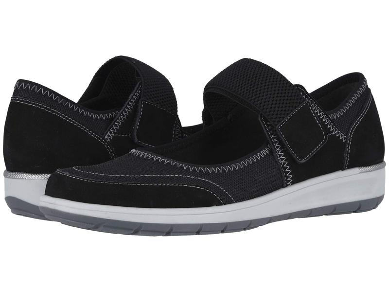 ウォーキング クレイドル レディース スニーカー シューズ Option Black Nubuck/Fabric