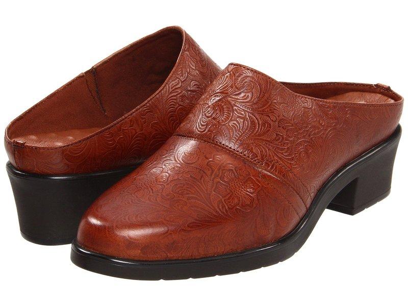 ウォーキング クレイドル レディース サンダル シューズ Caden Tan Tooled Leather