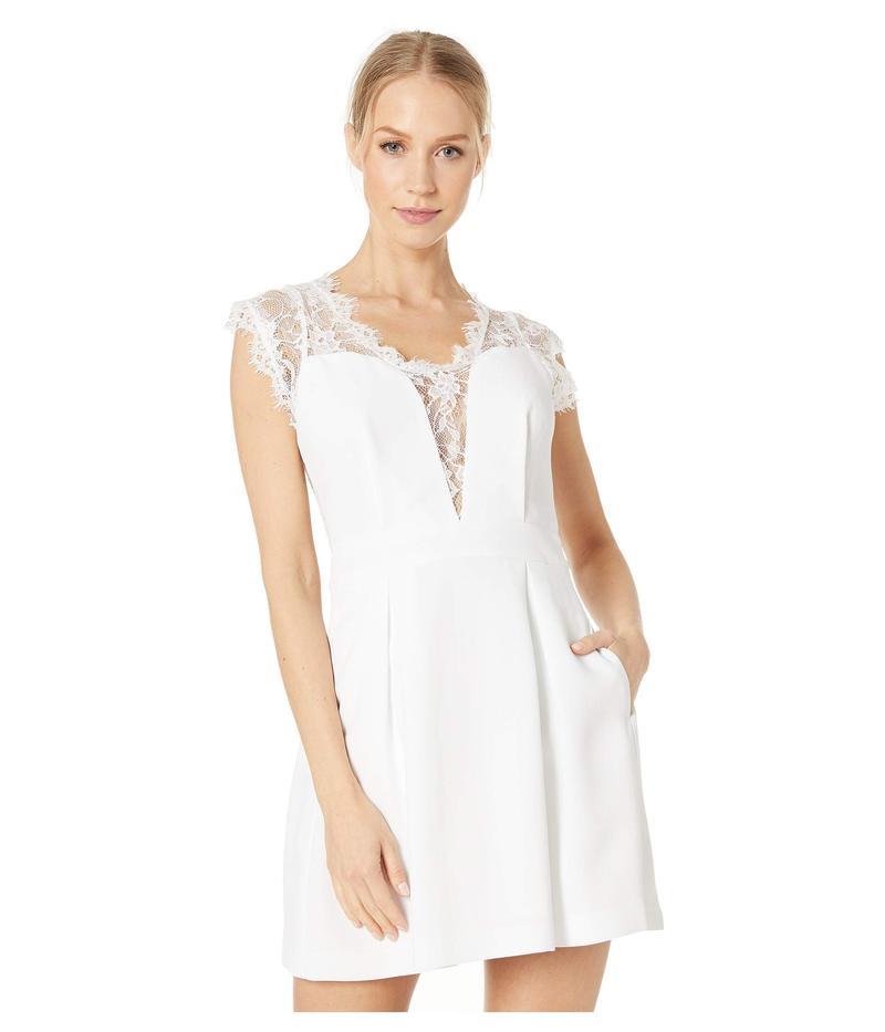 BCBジェネレーション レディース ワンピース トップス Sleeveless V-Neck Shirt Cocktail Dress GEF68B66 White