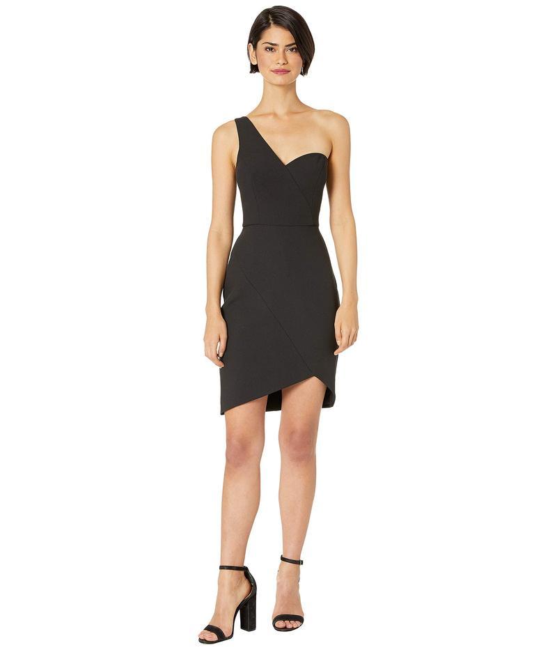 ビーシービージーマックスアズリア レディース ワンピース トップス One Shoulder Short Cocktail Dress Black