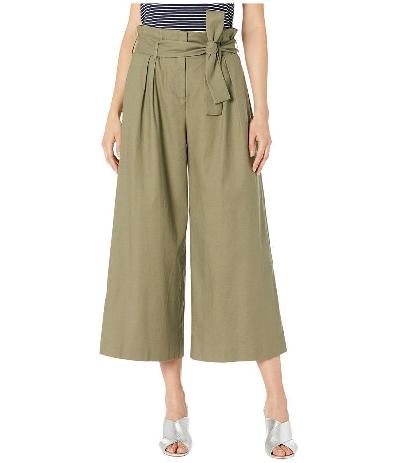 ビーシービージーマックスアズリア レディース カジュアルパンツ ボトムス Issac Paper Bag Wide Leg Culotte Pants Dusty Olive