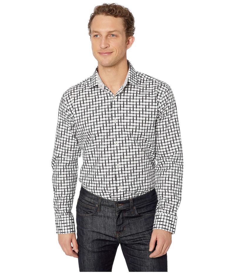ブガッチ メンズ シャツ トップス Geo Long Sleeve Shaped Fit Button-Up Shirt Black