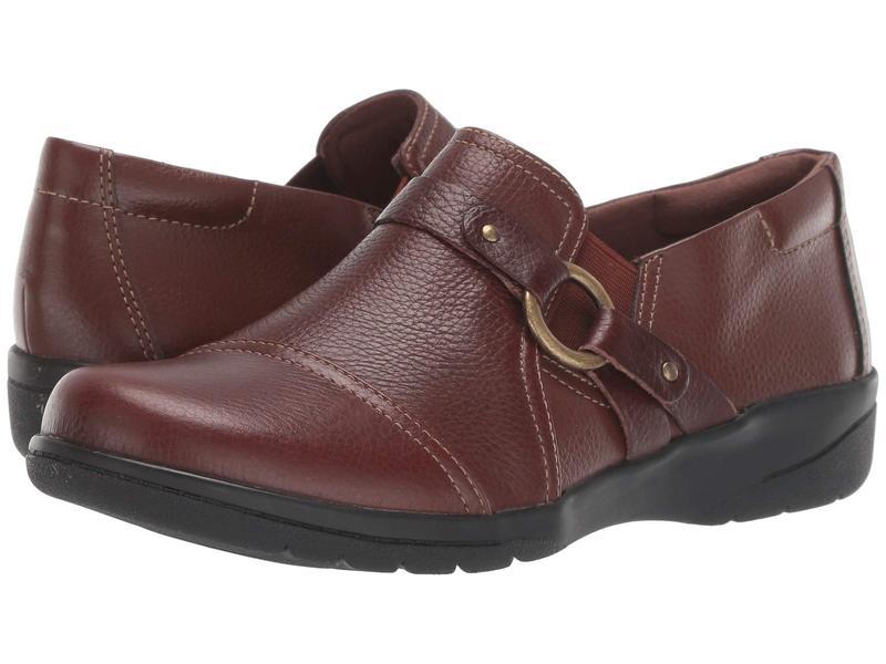 クラークス レディース スリッポン・ローファー シューズ Cheyn Fame Mahogany Tumbled Leather