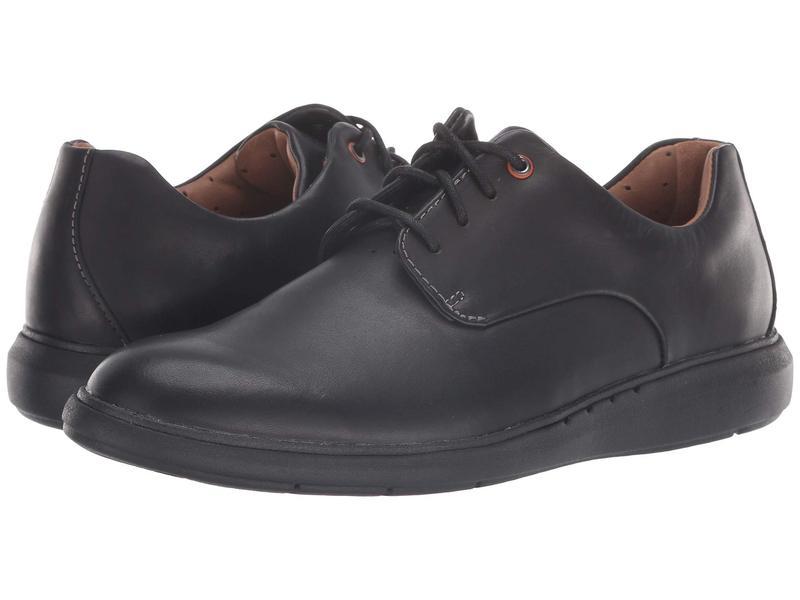 クラークス メンズ オックスフォード シューズ Un Voyage Plain Black Leather