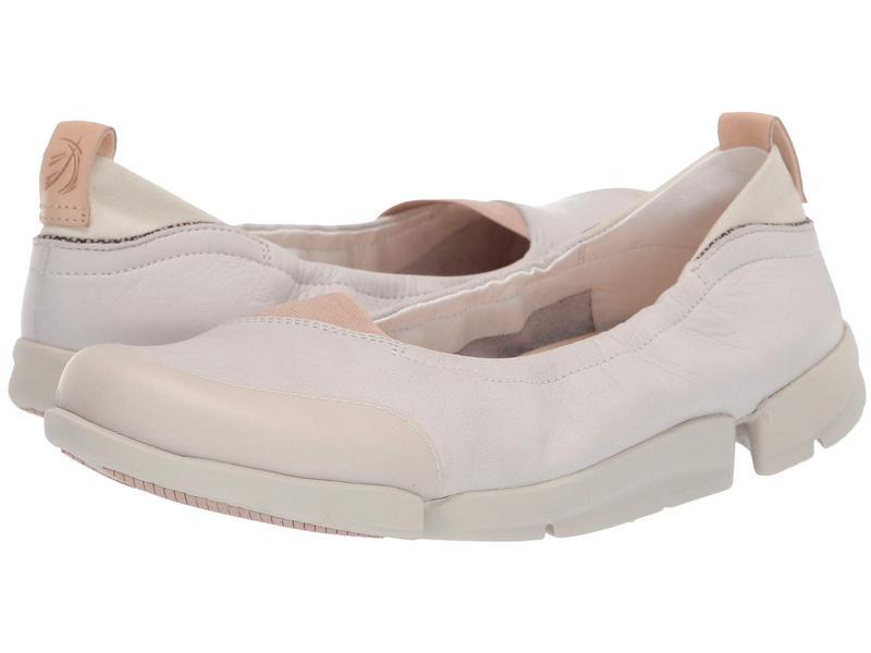 クラークス レディース サンダル シューズ Tri Adapt White Leather