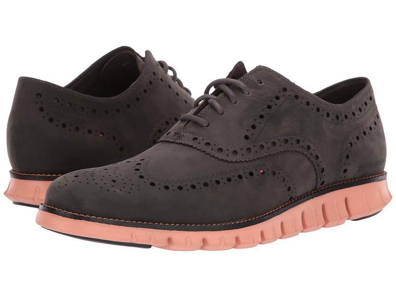 コールハーン メンズ オックスフォード シューズ Zerogrand Wingtip Oxford Leather Magnet Leather/Black/Canyon Sunset