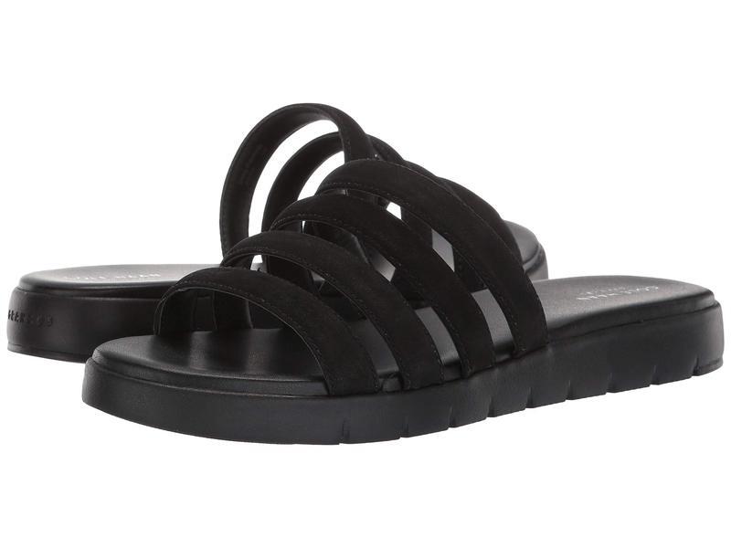 コールハーン レディース サンダル シューズ Zerogrand Multi Strap Sandal Black Leather/Black
