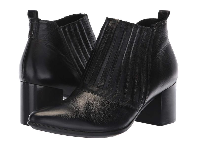 エコー レディース ブーツ・レインブーツ シューズ Shape 45 Block Ankle Boot Black Calf Leather