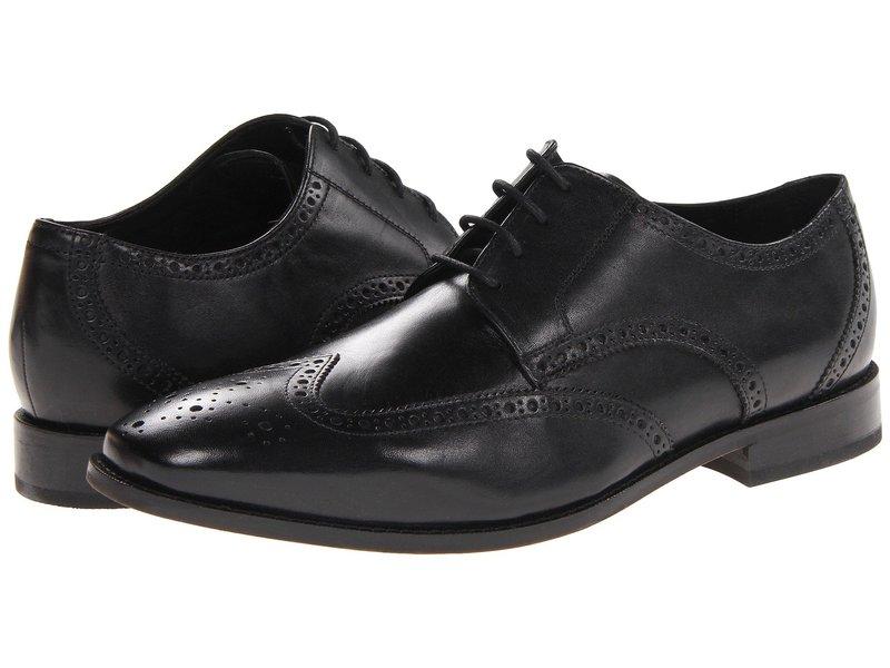 フローシャイム メンズ オックスフォード シューズ Castellano Wingtip Oxford Black