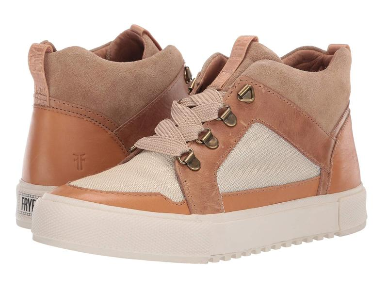 フライ レディース スニーカー シューズ Gia Lug Trail Sneaker Beige Multi Washed Antique Pull Up/Suede/Canvas