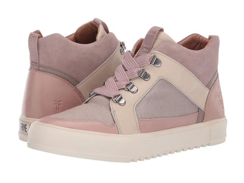 フライ レディース スニーカー シューズ Gia Lug Trail Sneaker Lilac Multi Polished Soft Full Grain/Suede/Canvas