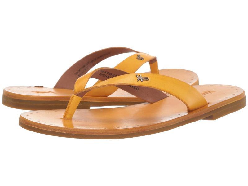 フライ レディース サンダル シューズ Azalea Logo Flip-Flop Yellow Antique Veg Tan