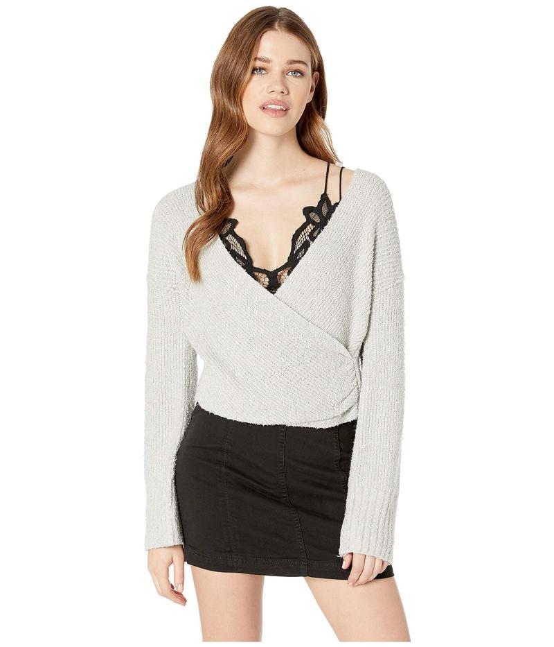 フリーピープル レディース ニット・セーター アウター Sensual Wrap Sweater Grey