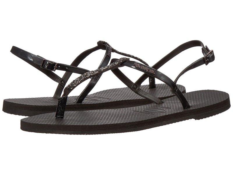 ハワイアナス レディース サンダル シューズ You Riviera Crystal Sandals Black