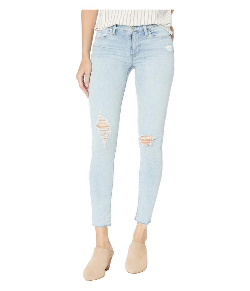 ハドソンジーンズ レディース デニムパンツ ボトムス Nico Mid-Rise Ankle Raw Hem Skinny Jeans in Worn Crystal Blue Worn Crystal Blue