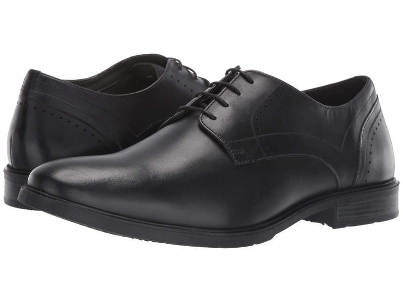 ハッシュパピー メンズ オックスフォード シューズ Advice PT Derby Black Leather