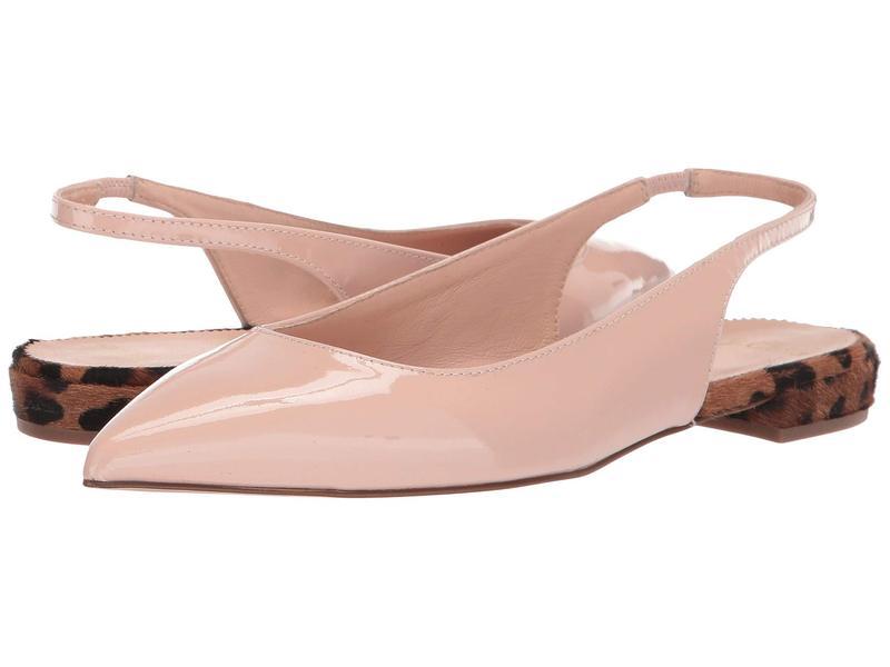 ジェイクルー レディース サンダル シューズ Pointy Toe Slingback Flat with Leopard Heel Sunwashed Pink