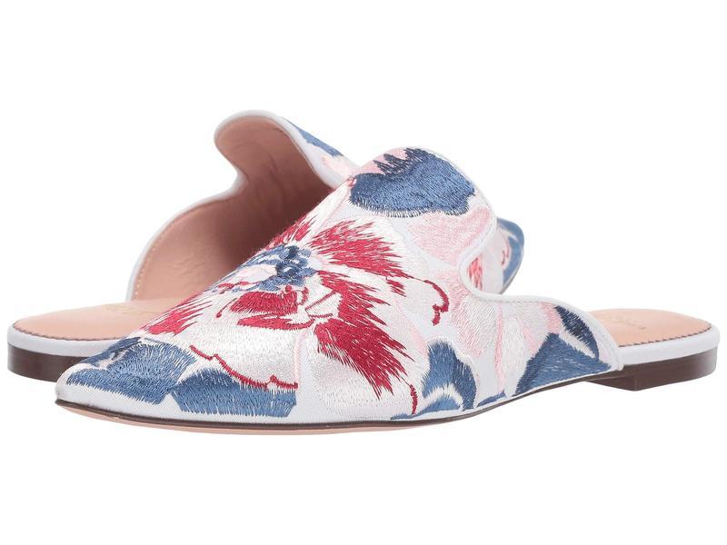 ジェイクルー レディース サンダル シューズ Marina Slide in Brocade Ingalls Floral Cobalt Pink