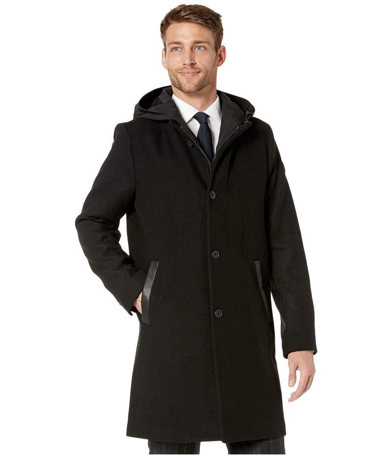 ケネスコール メンズ コート アウター Winged Collar Wool Jacket Black
