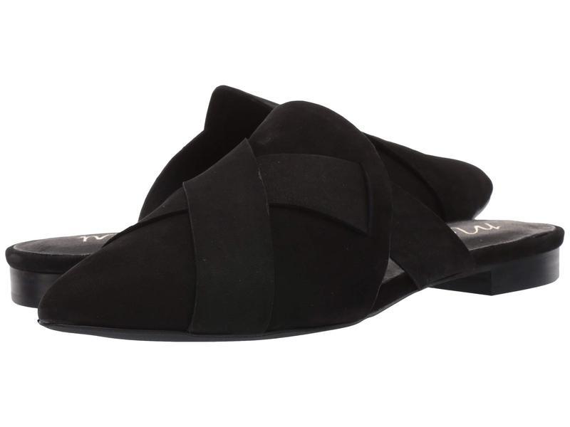 マチス レディース スリッポン・ローファー シューズ Jaclyn Slip-On Mule Black Leather