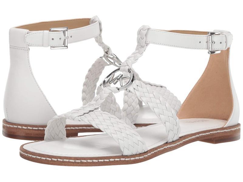 マイケルコース レディース サンダル シューズ Piper Flat Sandal Optic White