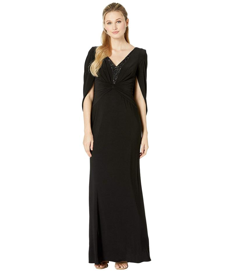 アドリアナ パペル レディース ワンピース トップス Jersey Long Dress Black