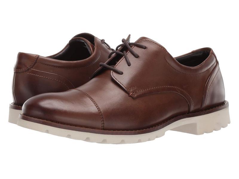 ロックポート メンズ オックスフォード シューズ Channer Brown Leather