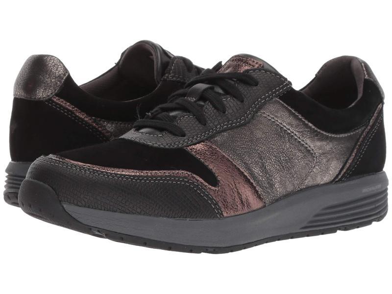 ロックポート レディース スニーカー シューズ TruStride Ubal Black Leather