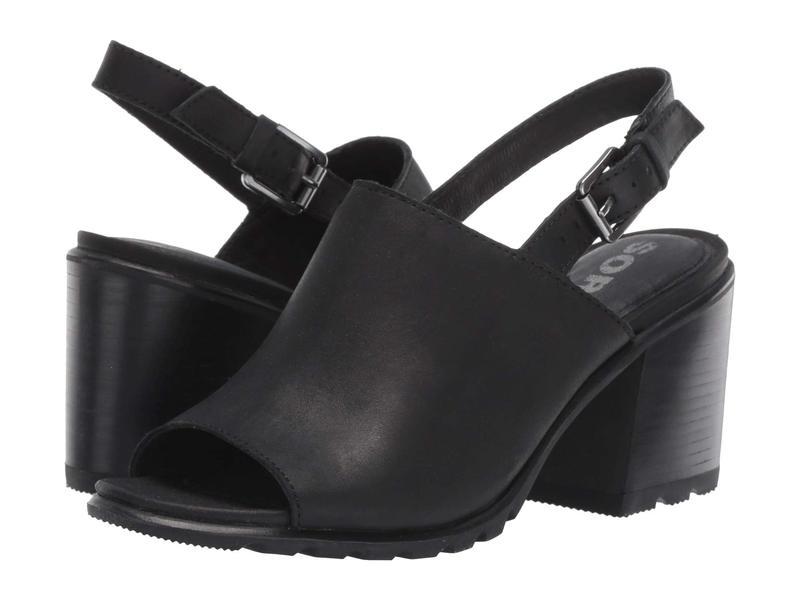 ソレル レディース ヒール シューズ Nadia¢ Slingback Black Full Grain Leather