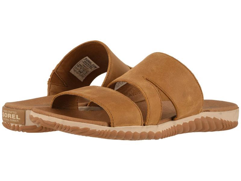 ソレル レディース サンダル シューズ Out N About¢ Plus Slide Camel Brown