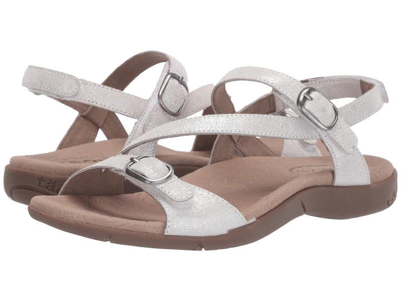 タオスフットウェア レディース サンダル シューズ Beauty 2 White Metallic