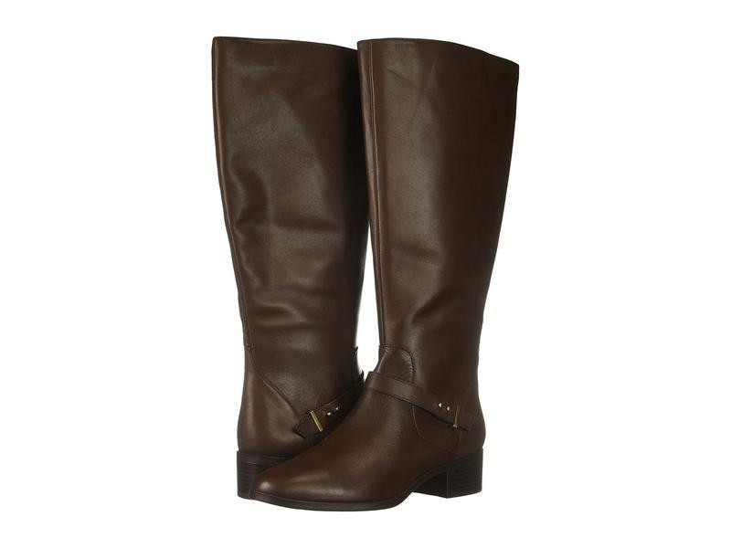 バンドリーノ レディース ブーツ・レインブーツ シューズ Bloema Wide Calf Boot Hickory Leather