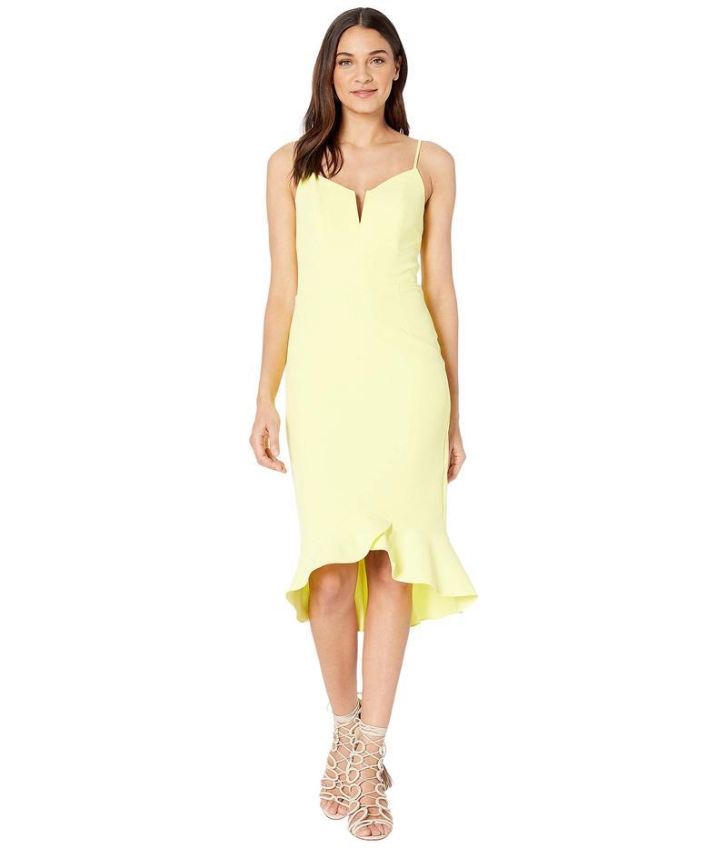 バードット レディース ワンピース トップス Kristen Peplum Dress Lemon Drop