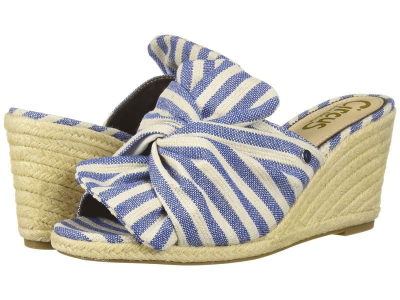 サムエデルマン レディース ヒール シューズ Palma Mid Blue Fleckled Metallic Stripe Fabric