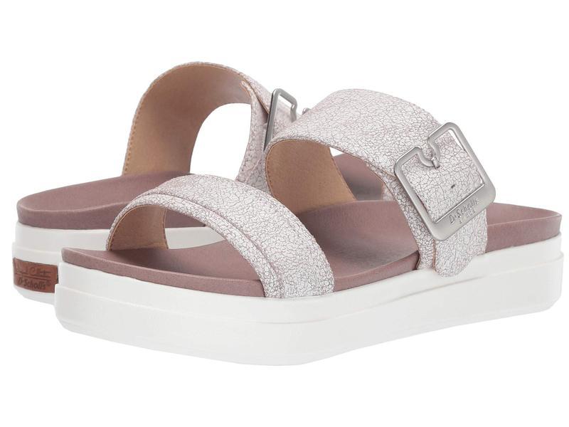 ドクター・ショール レディース サンダル シューズ Styles - Original Collection White Hydrangea Pink Cracked Leather