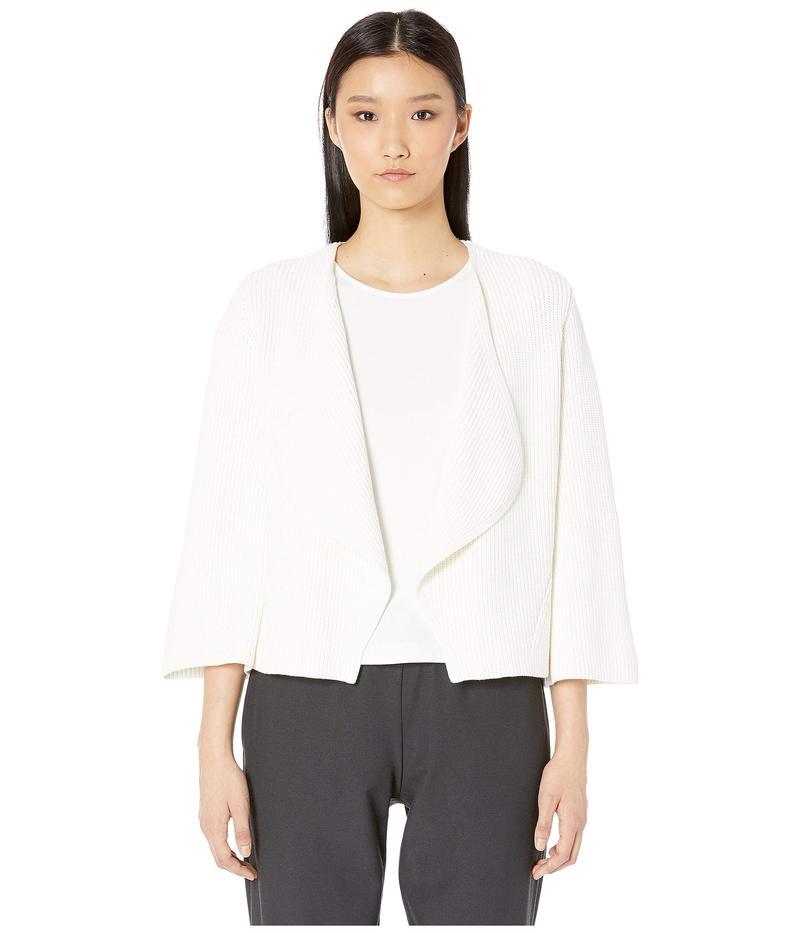 エイリーンフィッシャー レディース ニット・セーター アウター V-Neck Bell Sleeve Cardigan Organic Cotton White
