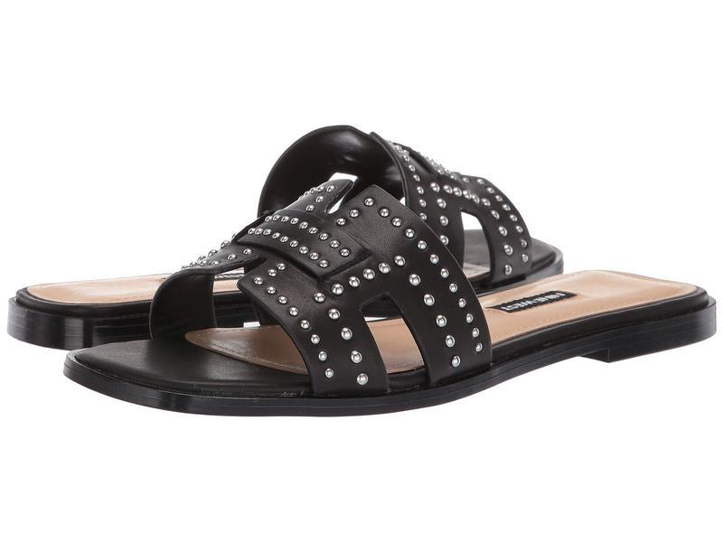 ナインウェスト レディース サンダル シューズ Genesia Studded Slide Sandal Black