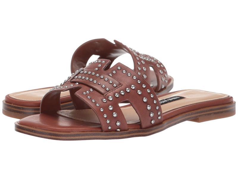 ナインウェスト レディース サンダル シューズ Genesia Studded Slide Sandal Dark Brown