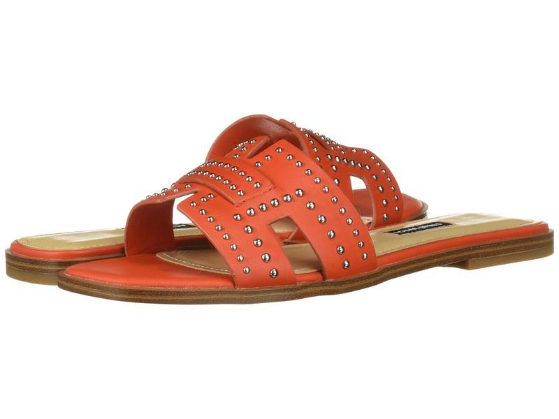 ナインウェスト レディース サンダル シューズ Genesia Studded Slide Sandal Orange