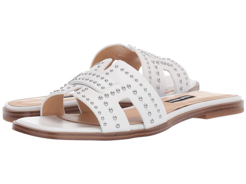 ナインウェスト レディース サンダル シューズ Genesia Studded Slide Sandal White